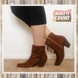 💖 Fringed Booties